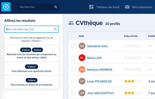 CVthèque - recherche CV-2