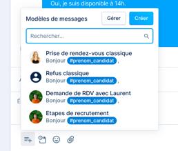 Messagerie - Créer un modèle de message