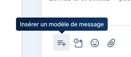 Messagerie - Insérer un modèle de message