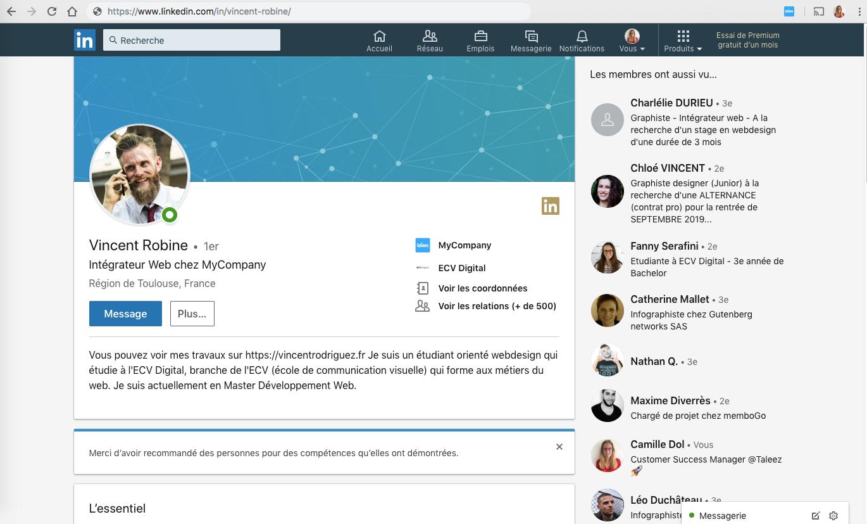 J3 - Utiliser l'extension Taleez Sourcing sur Linkedin 3