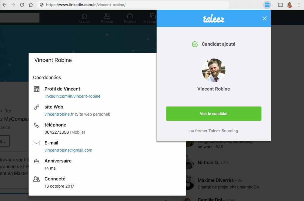 J3 - Utiliser l'extension Taleez Sourcing sur Linkedin 5